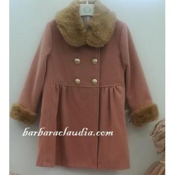abrigo infantil rosa palo marta y paula