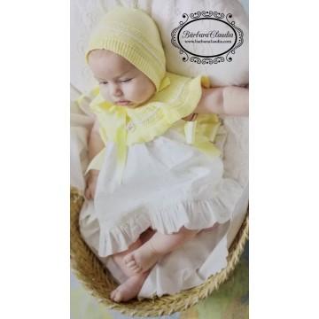 vestido infantil amarillo foque