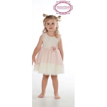 vestido infantil rosa lilus