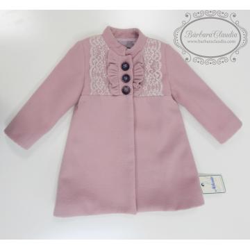 abrigo infantil rosa empolvado nekenia