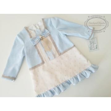 vestido infantil borgoña marta y paula