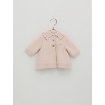 abrigo punto rosa foque