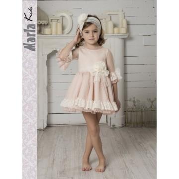 vestido plumeti rosa marla
