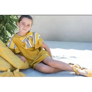 vestido mostaza eve children
