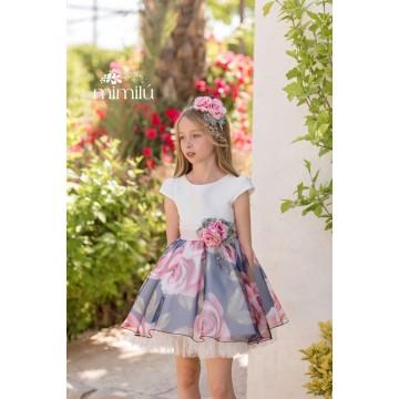 vestido rosas mimilú