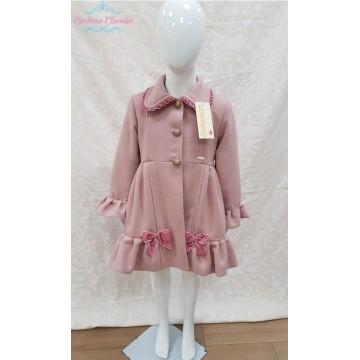Abrigo de paño rosa lazo de la Amapola