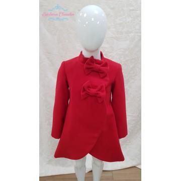 Abrigo rojo paño lazos de Nekenia